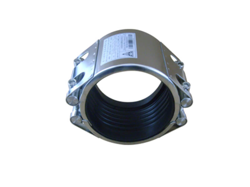 Double section pipe repair coupling