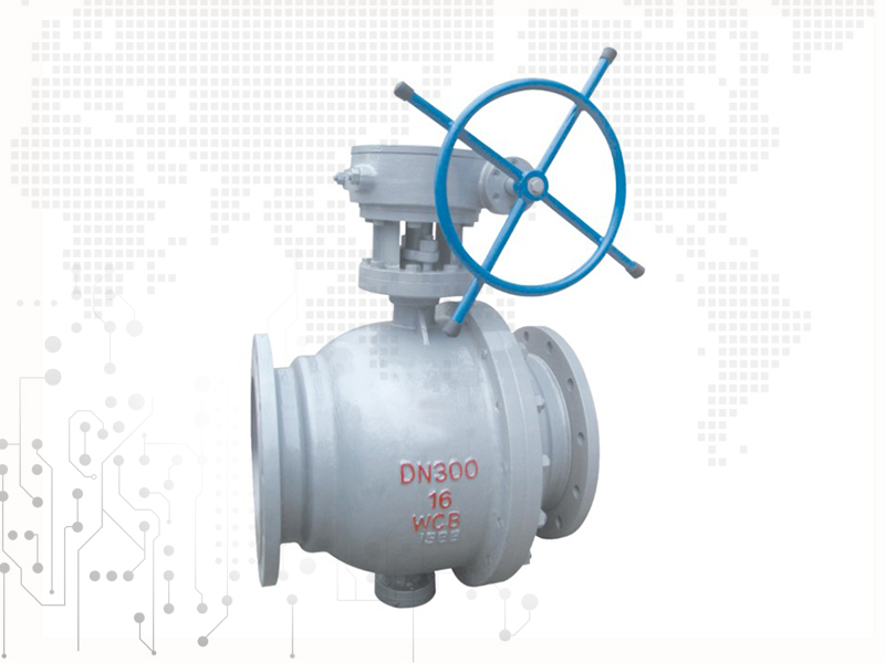 Flange connection ball valve
