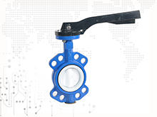 Full PTFE lined wafer butterfly valve