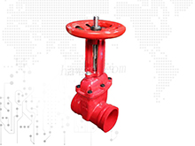 groove end gate valve