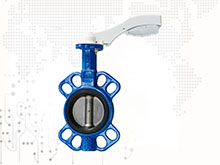 Multi standard Aluminum handle wafer butterfly valve