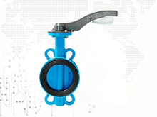 Multi standard soft seat aluminum lever coated discwafer type butterfly valve
